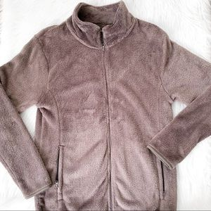 21Men Taupe Faux Fir ZIP Up Jacket